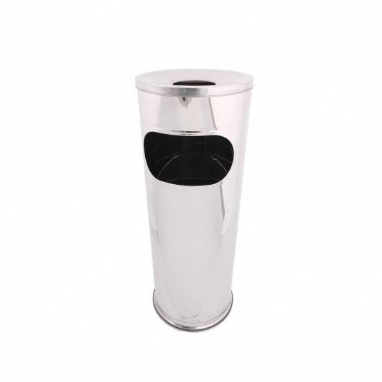 Cos de gunoi cu scrumiera inox, capacitate 14 L