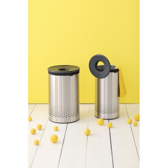 Cos rufe, 60L, capac Plastic  - otel mat