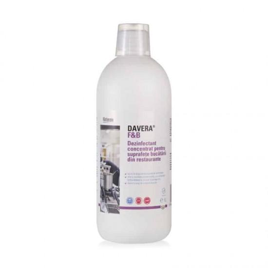DAVERA® F&B – Dezinfectant concentrat pentru suprafetele din bucatariile restaurantelor, 1 litru
