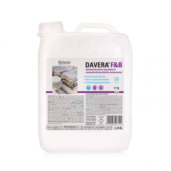 DAVERA® F&B RTU – Dezinfectant gata de utilizare, 5 litri