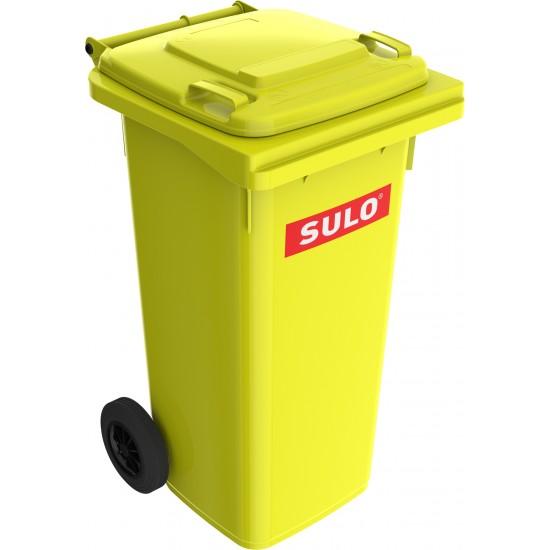 Europubela din material plastic, 120 l, culoare galben MEVATEC - Transport inclus de la minim 2 pubele