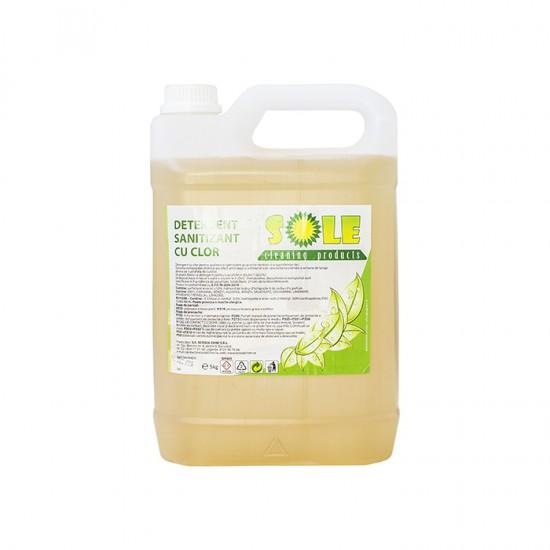 Detergent sanitizant cu clor pentru suprafete, 10L, AQA Choice