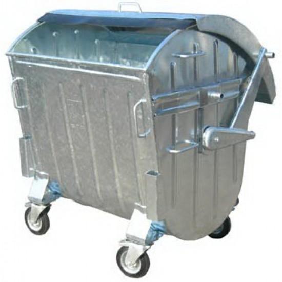 Container zincat CLA 1100 cu capac semirotund - Transport inclus