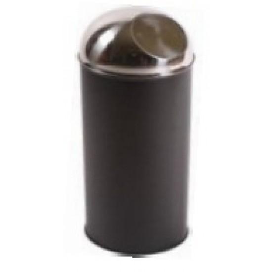 Cos gunoi push negru 45l, 30x70 cm