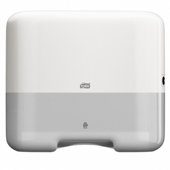 Dispenser prosoape hartie mini Tork, V Fold, alb, capacitate 300 servetele