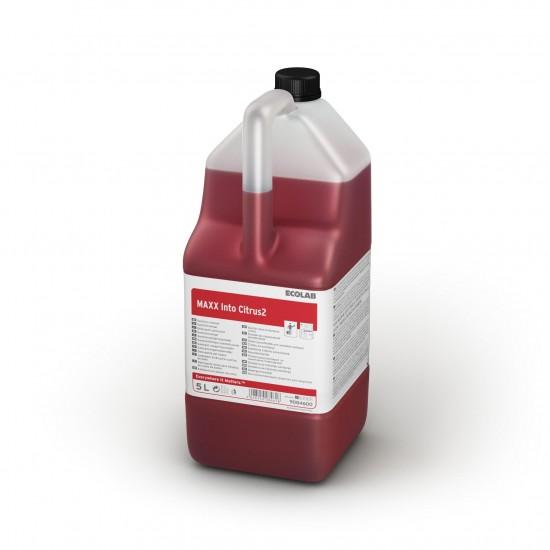 Detergent sanitar cu parfum de citrice MAXX2  INTO CITRUS,  5L,  Ecolab