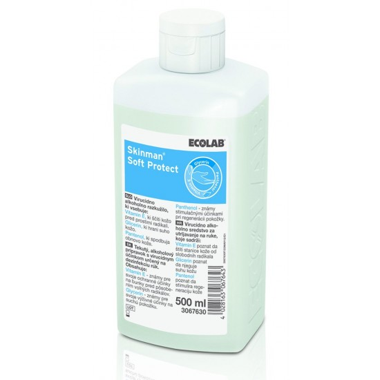 Aviz biocid - Dezinfectant maini Ecolab Skinman Soft Protect 500ml