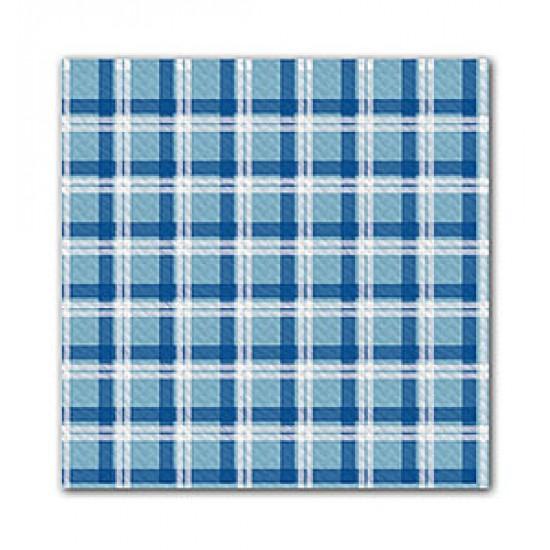 Fata de masa 100x100 cm, Scottish Light Blue/Blue, FATO, 50 buc / pachet