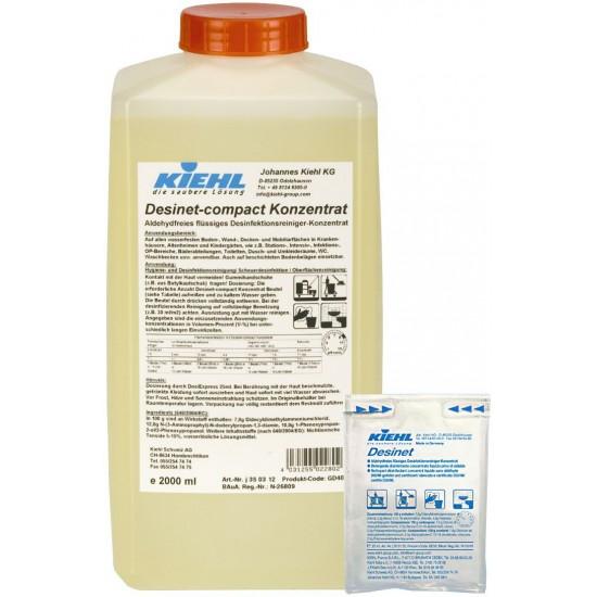 DESINET COMPACT CONC Manual -Detergent dezinfectant fara aldehide,25ml, Kiehl