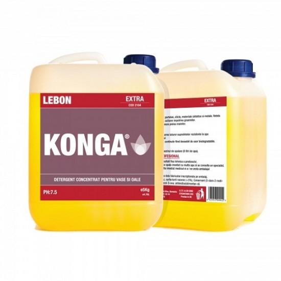 Detergent-degresant profesional pentru vase, 5 L, Konga Extra