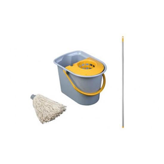 Maner pentru mop Mini Aquva tip spaghetti, gri, 205 grame, Vermop