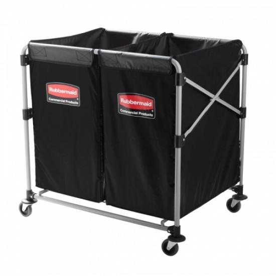 Carucior X-Cart pliant pentru rufe, 2 x 150 L, gri