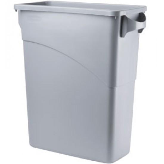 Container Slim Jim cu manere, 60 L, gri deschis, RUBBERMAID