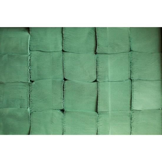 Prosoape hartie pliate gofrate verzi V fold, 250 buc / pachet, 1 strat, 25 x 23 cm, AQA Choice