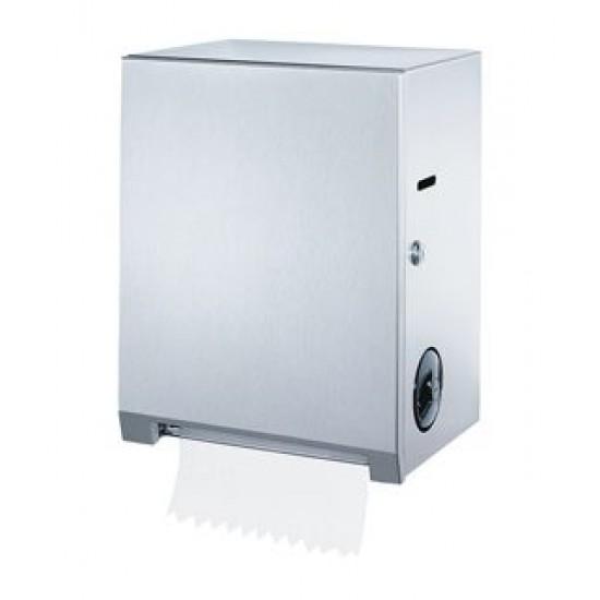 Dispenser rulou prosop Autocut, actionare manuala-mecanica, inox,  seria Clasic, Bobrick