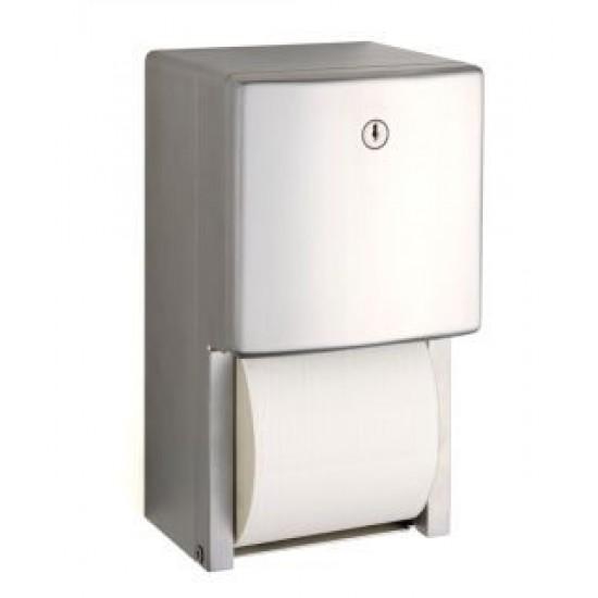 Dispenser hartie igienica cu 2 role normale suprapuse, seria Contura, Bobrick