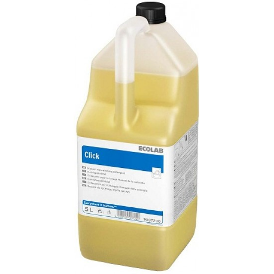 Detergent concentrat pentru spălarea manuală a vaselor CLICK 5L Ecolab