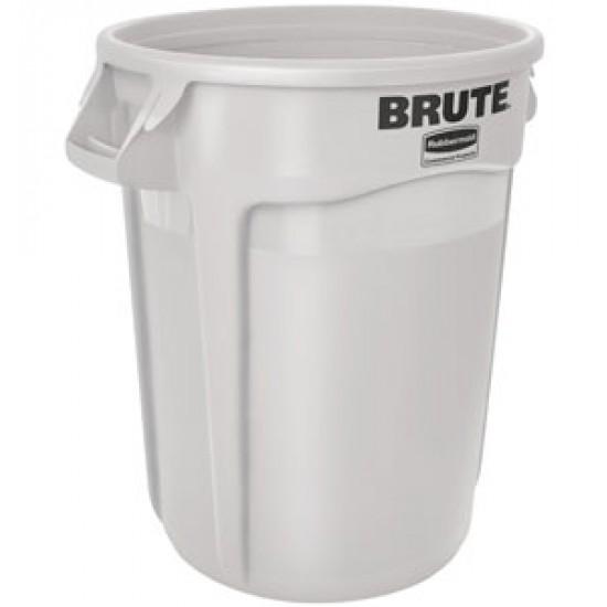 Container rotund Brute cu canale de ventilare, 75.7 L, alb, RUBBERMAID