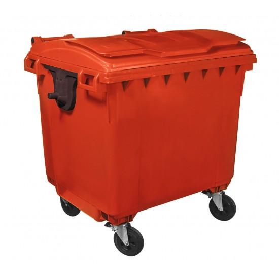 Container HDPE CLF 660L cu capac plat - Transport inclus