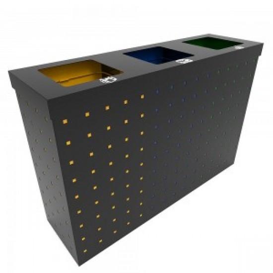 OSLO SM Set combo de reciclare din metal cu design modern