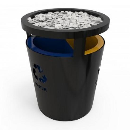GENEVE SM Cos de reciclare cu design elegant din metal cu pietre decorative