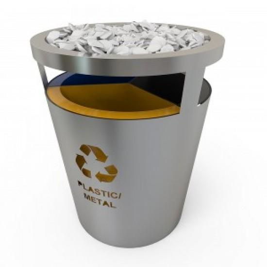 GENEVE SS Set de reciclare cu look modern din otel inoxidabil si pietre decorative
