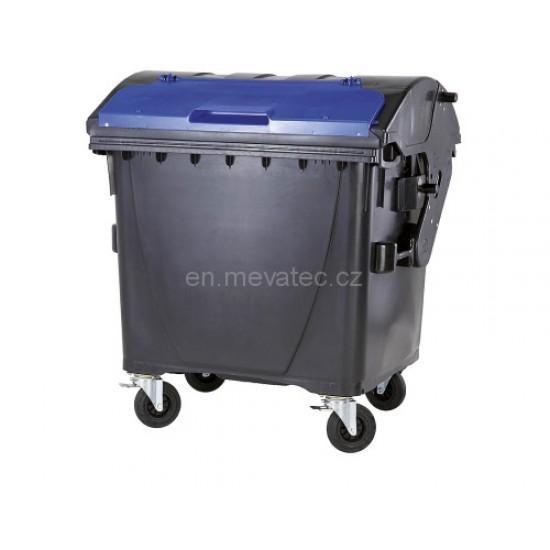 Eurocontainer din material plastic 1100 l negru capac in capac albastru MEVATEC - Transport Inclus