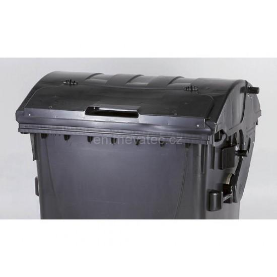 Eurocontainer din material plastic 1100 l negru capac in capac galben MEVATEC - Transport Inclus