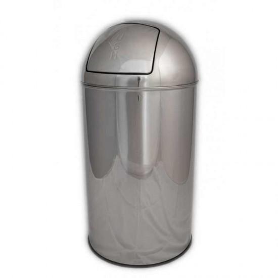 Cos gunoi PUSH etans, inox, 35 L