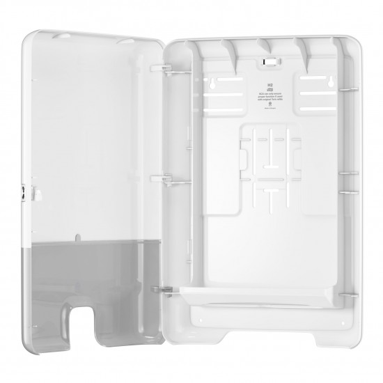 Dispenser servetele Xpress mare Tork, Z fold, alb, capacitate 500 servetele