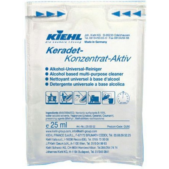 KERADET AKTIV CONCENTRAT-detergent concentrat universal pe baza de alcool, 25ml, Kiehl