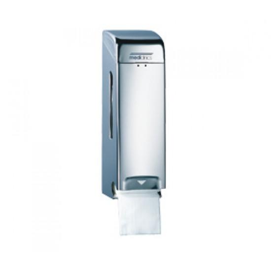 Dispenser hartie igienica pentru 2 role normale, suprapuse, inox finisaj satinat, Mediclinics