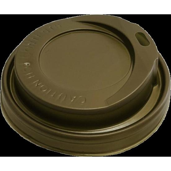 Capace plastic Gold - capac pahare carton 8 / 12 oz - 100 buc.