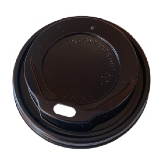 Capace plastic negre - capac pahar 8 / 12 oz - 100 buc.