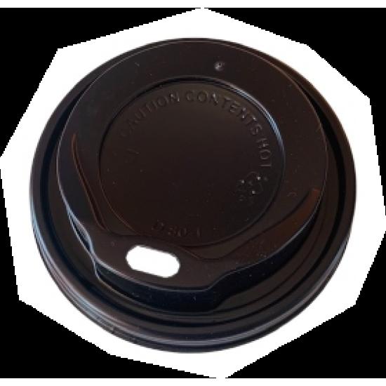 Capace plastic negre - capac pahar City 8oz - 100 buc