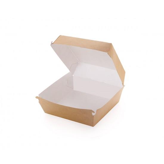 Hamburger box kraft - 17.5x16.5x11cm XXL - 100 buc.