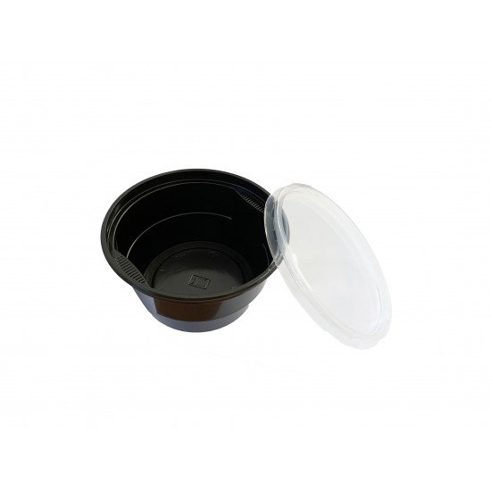 Bol supa negru + capac - 560ml - 450 buc.