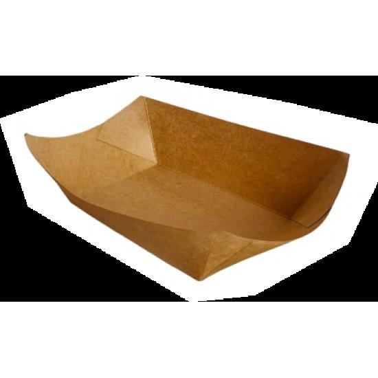 Barcuta kraft - 16.5x13x4.1cm-400 ml - 250 buc.
