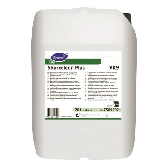 Detergent spumant neutru Shureclean Plus, Diversey, 20L