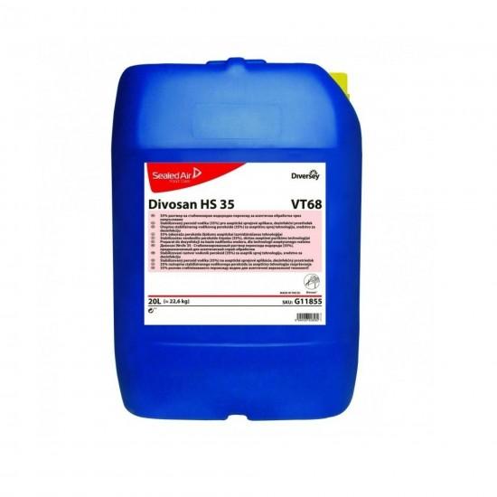 Dezinfectant pentru tehnologie aseptica prin pulversizare Divosan HS 35, Diversey, 20L