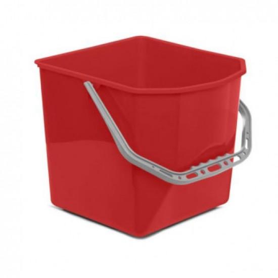 Galeata pentru carucior de curatenie profesional, culoare rosie, 25L
