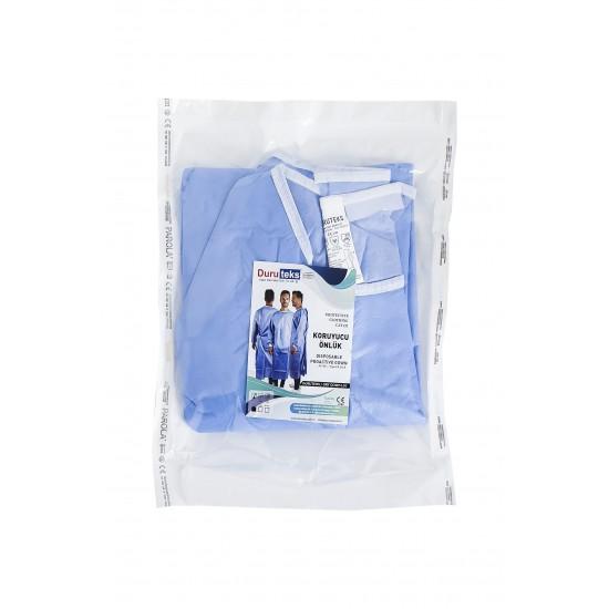 Halat protectie steril albastru, ambalat individual, impermeabil, 40 gr/mp