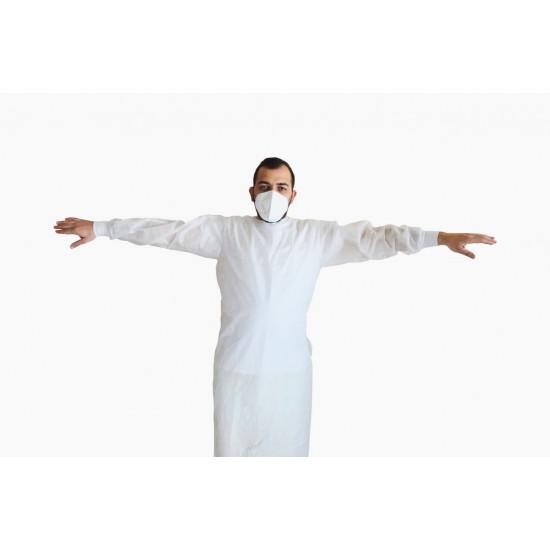 Halat protectie steril alb, ambalat individual, 40 gr/mp