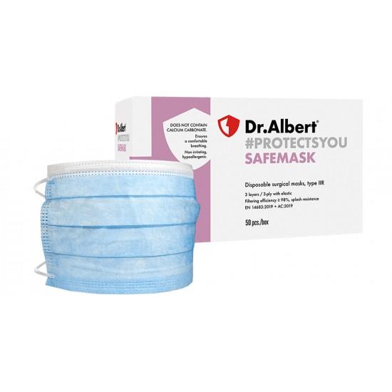 Masti chirurgicale de unica folosinta, tip IIR, 3 straturi, dr. Albert