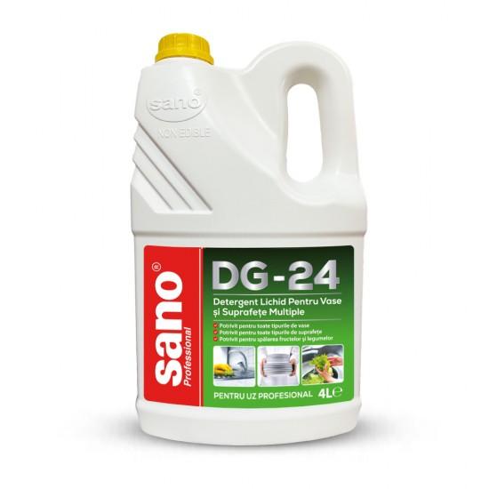 Detergent Lichid Pentru Vase si Suprafete Multiple, SANO PROFESSIONAL DG-24, 4L