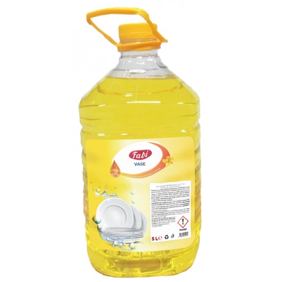 Detergent pentru Vase, concentrat, cu balsam, Fabi, bidon 5L