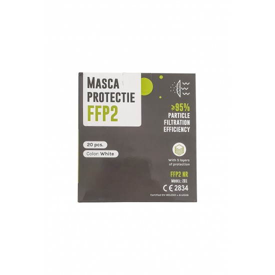 Masca protectie FFP2, fara valva, 5 straturi, 20 buc/cutie