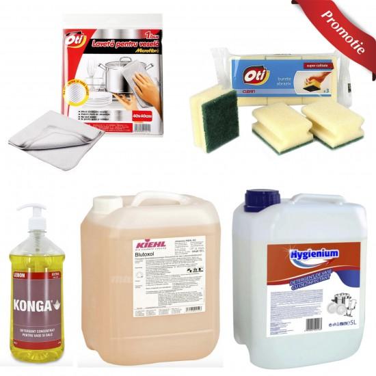 Pachet detergenti si accesorii bucatarie