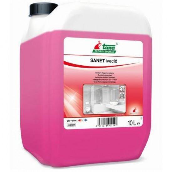 Detergent concentrat spatii sanitare, 10 L - Tana SANET Ivecid