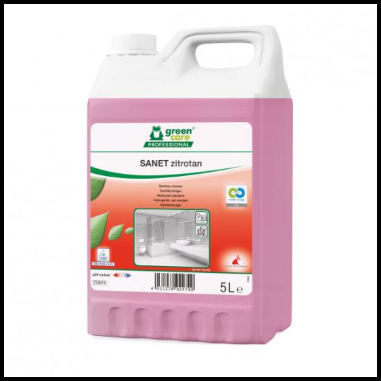 Detergent ecologic concentrat spatii sanitare SANET Zitrotan, 5L